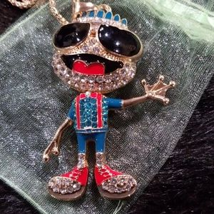 Betsey Johnson cool frog necklace